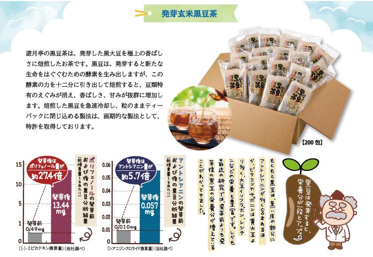 セット内容 発芽玄米黒豆茶